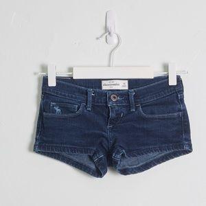 abercrombie Kids Dark Wash Denim Shorts